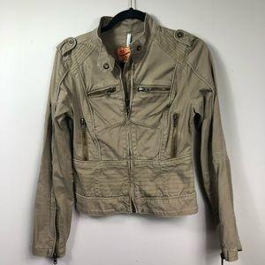Anthropology Twill Twenty Two Moto Jacket